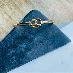 Kate Spade New York // Gold-Tone, Love Me Knot Bangle Bracelet